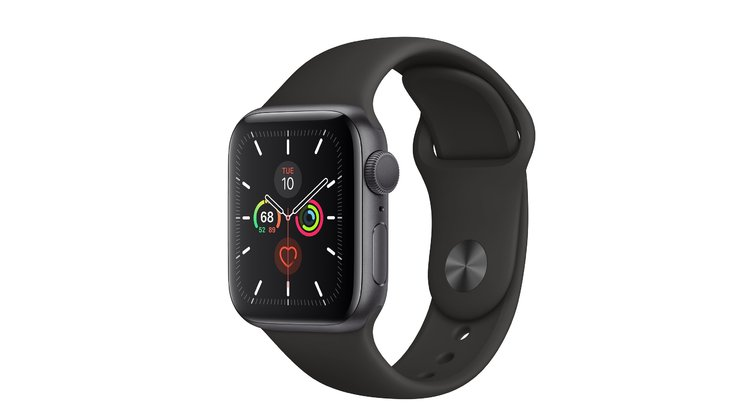 Apple Watch Series 5 MWWQ2 LTE 40mm Aluminium Space Grey Sport Band Black